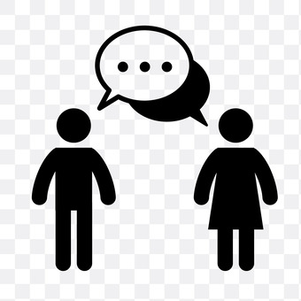 Male and female to talk