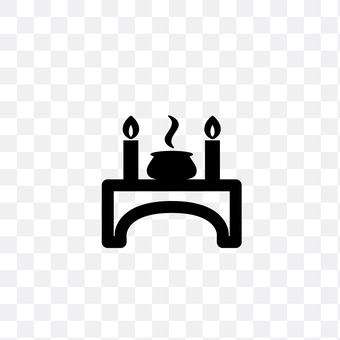 Censer and candle
