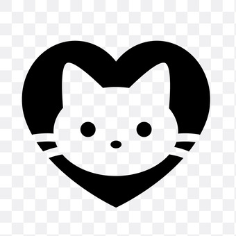 Heart and cat