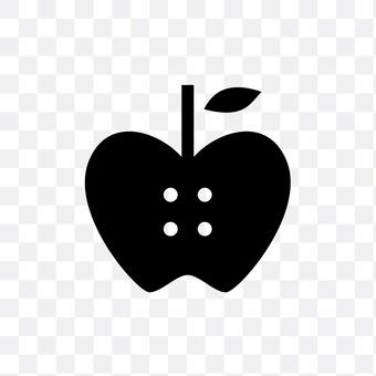 Apple type button