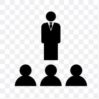 Boss and his subordinates