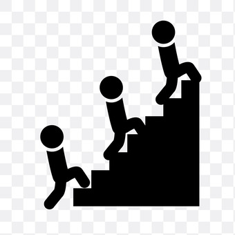 People who climb the stairs