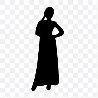 裙子的妇女5