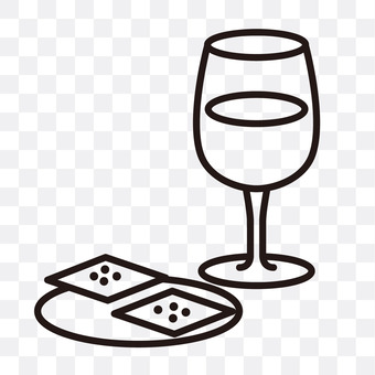 Wine and crackers