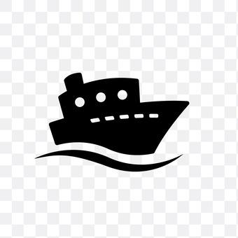 A passenger ship