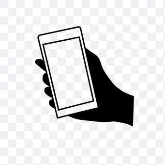 Right hand with smartphone