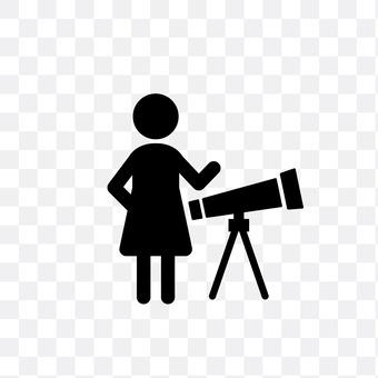 Female astronomer