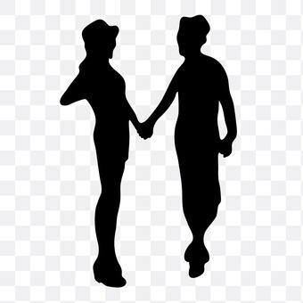 A couple holding hands 3