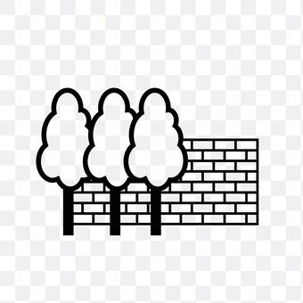 Bricks and trees