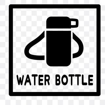 Water bottle card