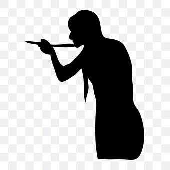 Woman tasting