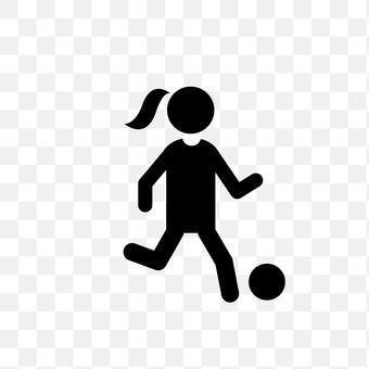 Women football player