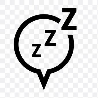 Speech bubble (sleep)