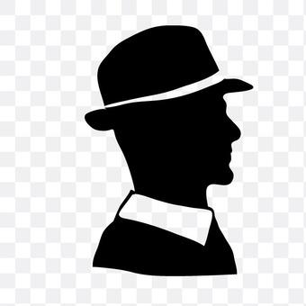 男人戴帽子