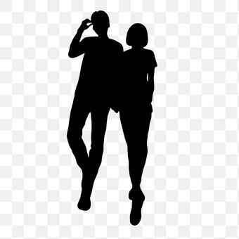 Cuddling couple 24