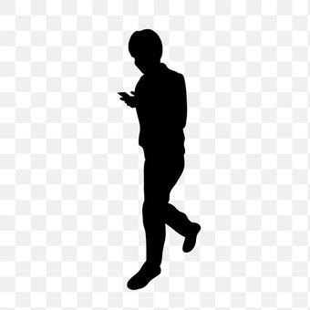 男子操纵智能手机