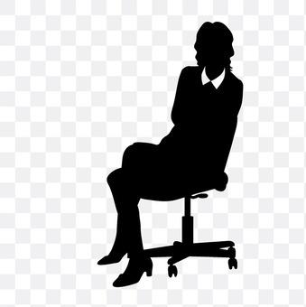 人坐的婦女