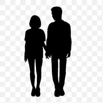 A couple holding hands 11