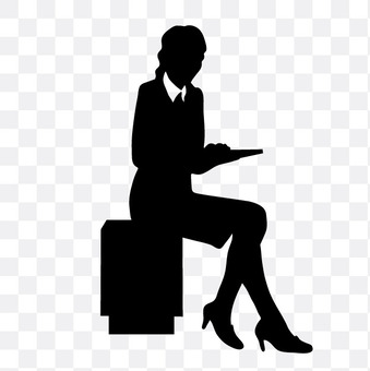 Sitting person career woman