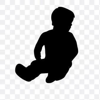 Sitting boy boy