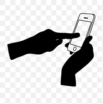Left finger to operate smartphone