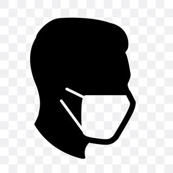 Men in mask shape
