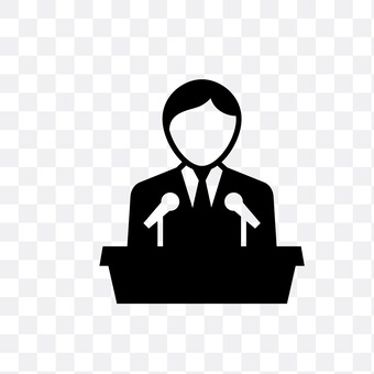 A man who makes a speech