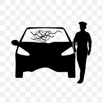 事故车辆和警察