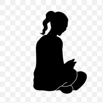 Sitting woman
