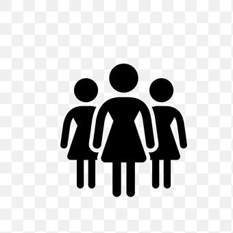 3 females