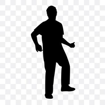 A standing man