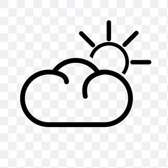 Partly sunny and cloudy