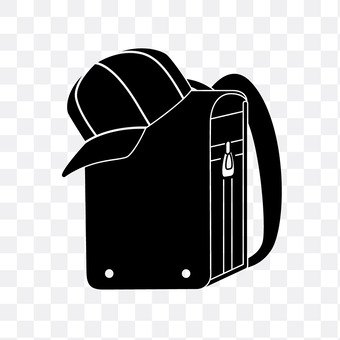 A school bag and a hat