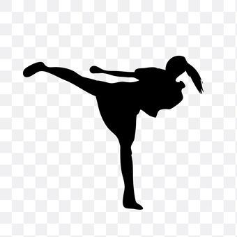A woman to kick