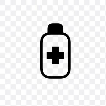A bottle of medicine