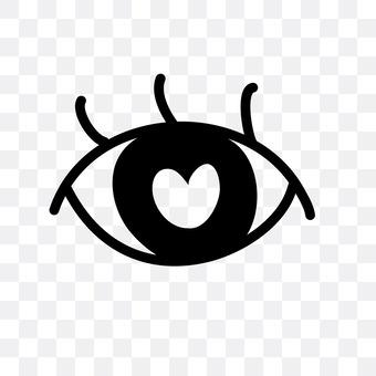 Eye in love