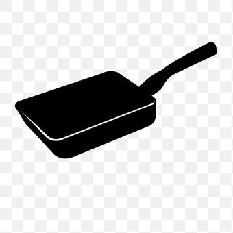 Egg-frying pan