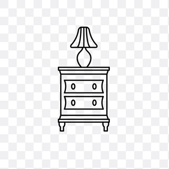Chest and lamp