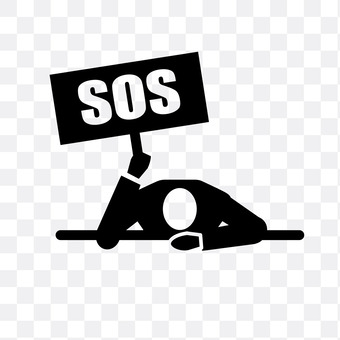 A man issuing SOS