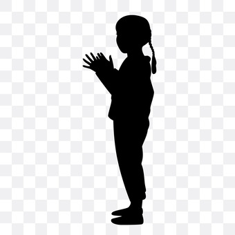 A girl clapping her hand