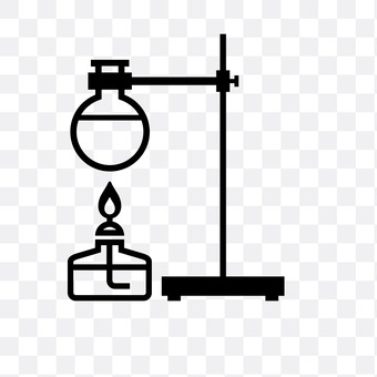 Round bottom flask and alcohol lamp