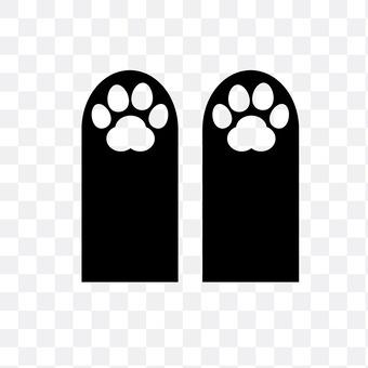 Footprints of cats