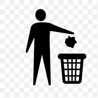 Person who throws trash