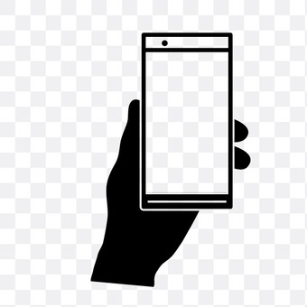 Left hand with smartphone