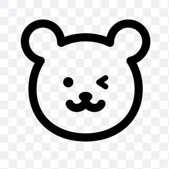 熊(眨眼)