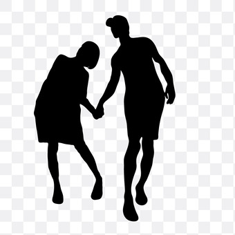 A couple holding hands 7