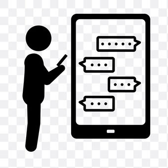 Smartphone screen and people