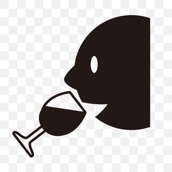 A wine drinker