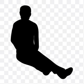 A sitting man