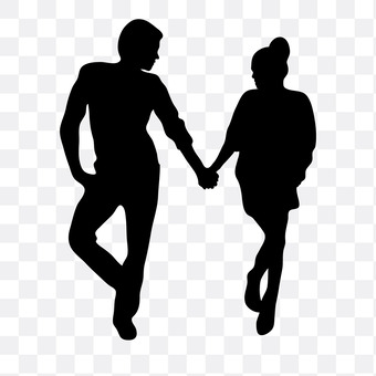 A couple holding hands 10